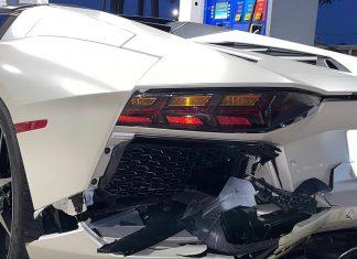 Audi & Lamborghini collision