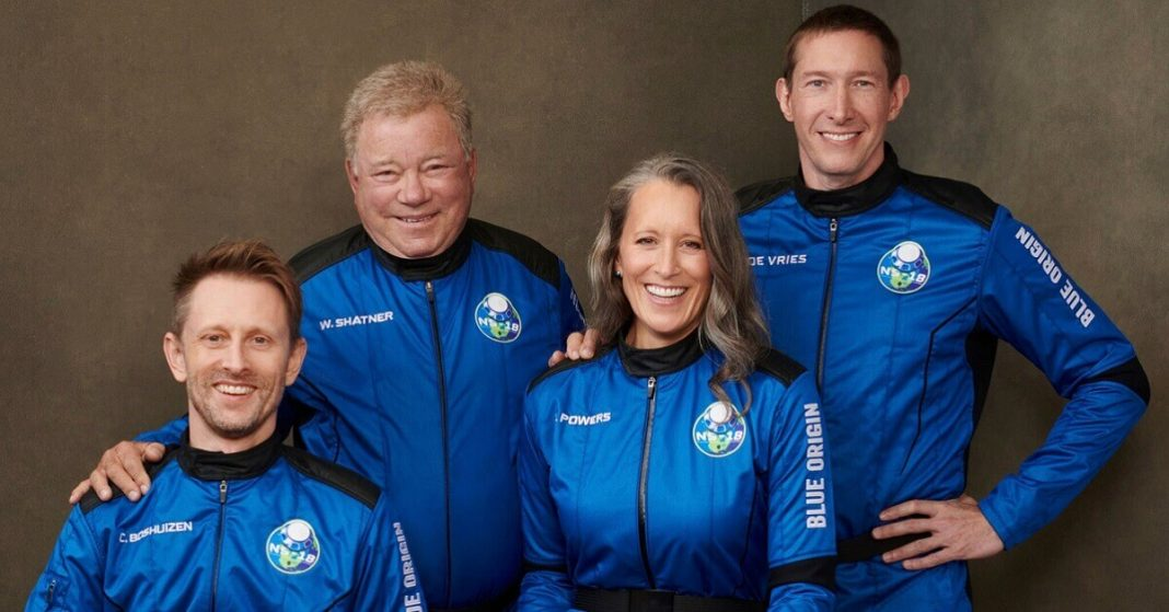 Blue Origin launches William Shatner along with three others to spac