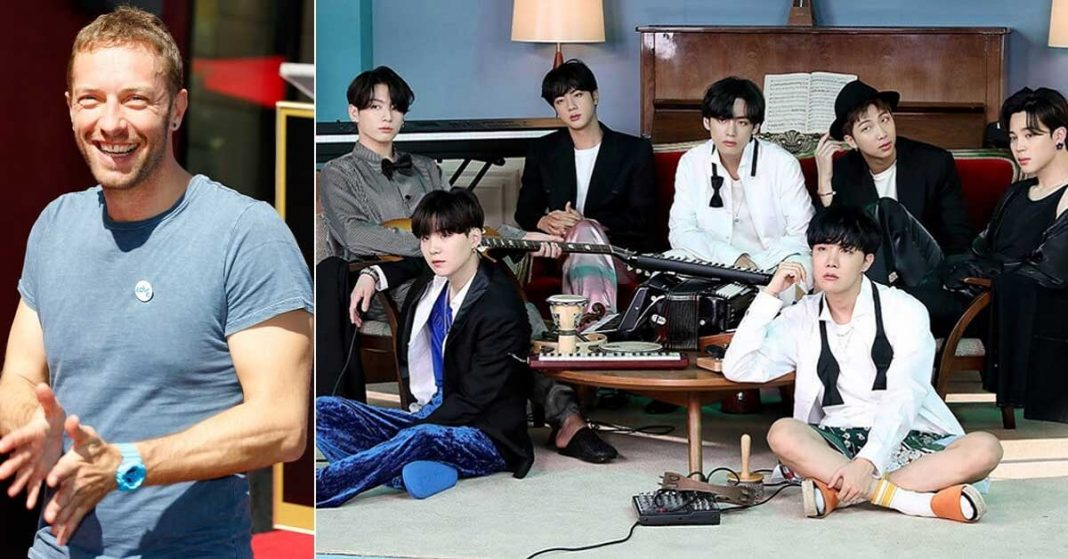 Chris Martin and BTS Group c