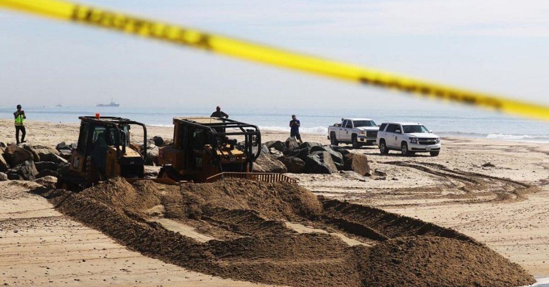 Oil spill near California